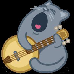 Cat Banjo Sticker