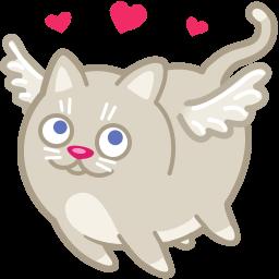 Cat Cupid Love Sticker