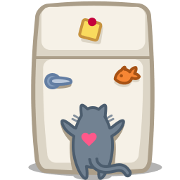 Cat Fridge Sticker