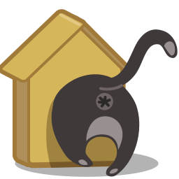 Cat Birdhouse Sticker
