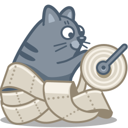 Cat Paper Sticker