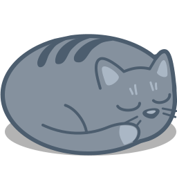 Cat Sleep Sticker