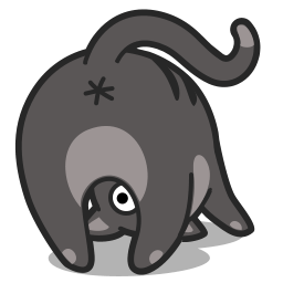 Cat Upsidedown Sticker