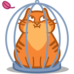 Cat Cage Sticker