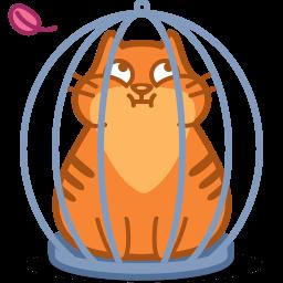 Cat Cage Sticker