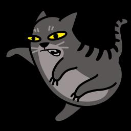 Cat Fight Sticker