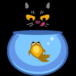 Cat Fish Sticker