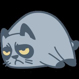 Cat Grumpy Sticker