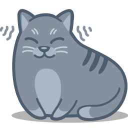 Cat Purr Sticker