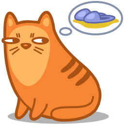 Cat Slippers Sticker
