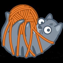 Cat Tied Sticker