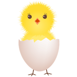Chicken Egg Shell Sticker