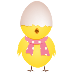 Chicken Egg Shell Top Sticker