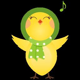 Singing Chicken Sticker