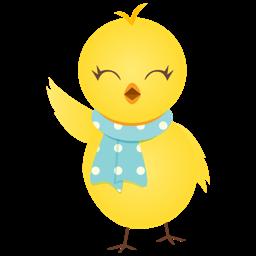 Waving Chicken Sticker