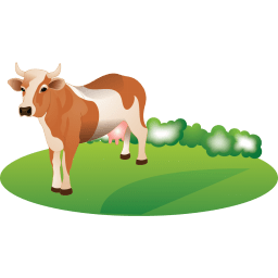 Feeding Cattle Sticker