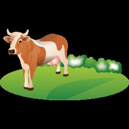 Feeding Cattle Sticker