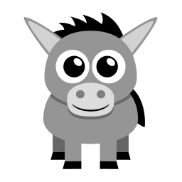 Donkey Sticker
