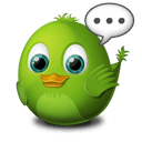 Green Birdie Stickers