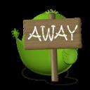 Bird Away Sticker