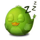 Bird Sleep Sticker