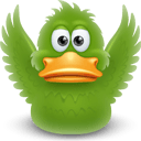 Duck Flapping Wings Sticker