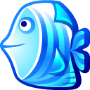 Blue Fish Sticker