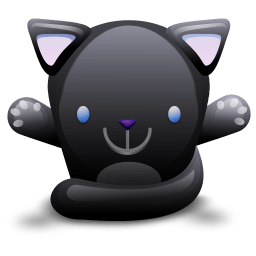 Cat Black Sticker