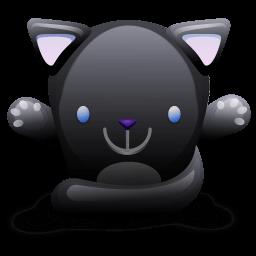 Cat Black Sticker