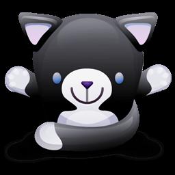 Cat Black White Sticker