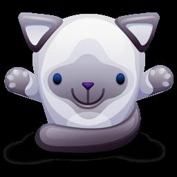 Cat Gray Sticker