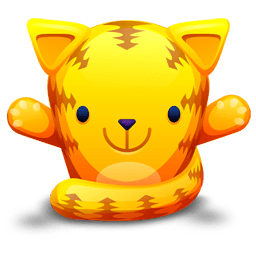 Cat Orange Sticker