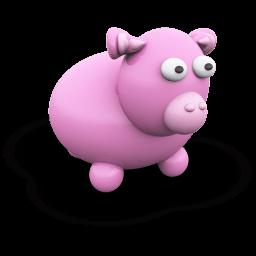 Pink Cow Sticker