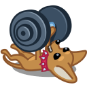 Dog Barbell Sticker