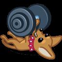 Dog Barbell Sticker