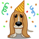 Dog Birthday Sticker