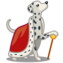 Dog Dalmatian King Sticker