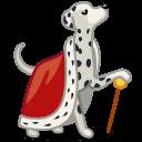 Dog Dalmatian King Sticker
