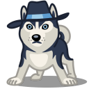 Dog Haski Sticker