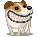 Dog Russel Grin Sticker