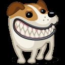 Dog Russel Grin Sticker