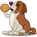 Dog Saint Bernard Sticker