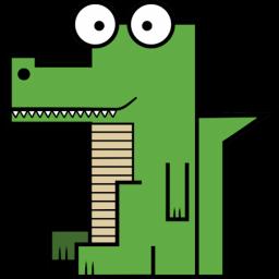 Crocodile Sticker