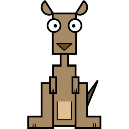 Kangaroo Sticker