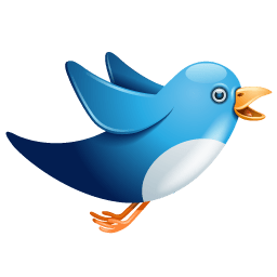 Twitter Bird Flying Sticker