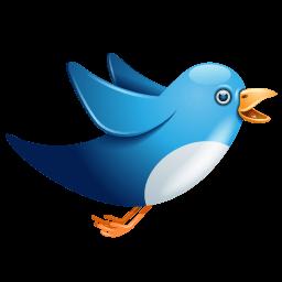Twitter Bird Flying Sticker