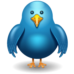 Twitter Bird Front Sticker