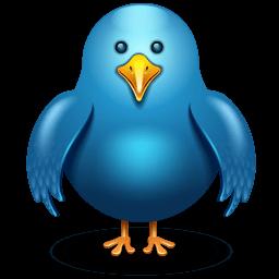 Twitter Bird Front Sticker