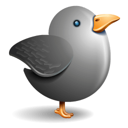 Twitter Bird Grey Sticker