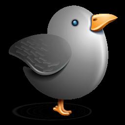 Twitter Bird Grey Sticker